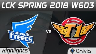 AFS vs SKT Highlights Game 1 LCK Spring 2018 W6D3 Afreeca Freecs vs SK Telecom T1 by Onivia