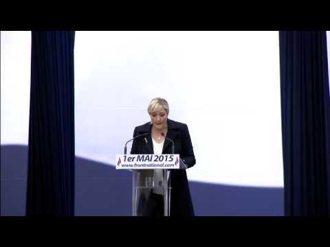 1er mai 2015 : Discours de Marine Le Pen