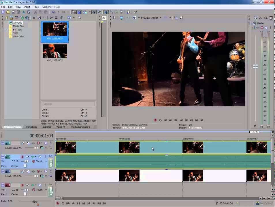 Как сделать 3 видео в одном sony vegas - Vendservice.ru