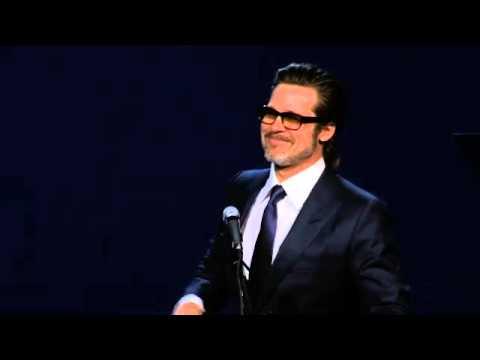 Brad Pitt Leads a Singalong at the Palm Springs International Film Festival