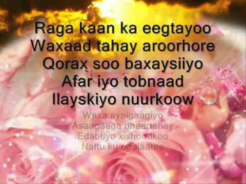 Hees Somali ah oo cajiiba.. + lyrics