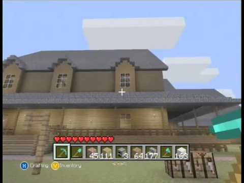 Minecraft Two Story Wooden House On Xbox 360 Edition YouTube