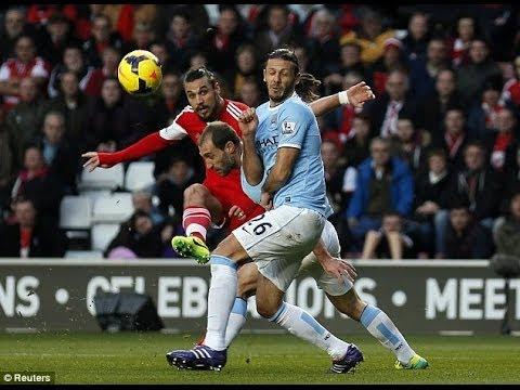 Southampton-Man. City 1-1 Aguero Osvaldo Goals settle draw! Review & Match Reaction