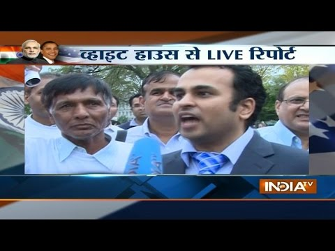 India TV Live reporting outside from White House Washington DC