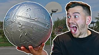 DUCT TAPE BASKETBALL EXPERIMENT!! (100 LAYERS OF DUCT TAPE)