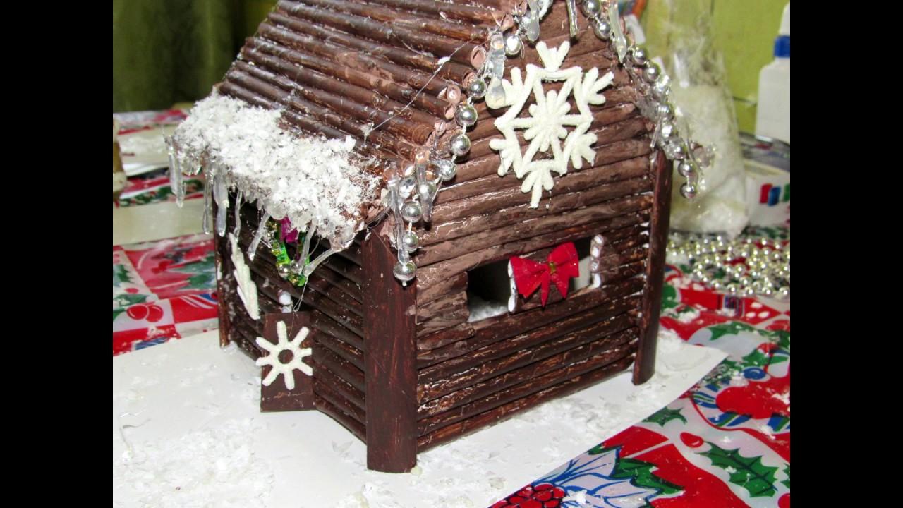 Домики для новогодней поделки своими руками