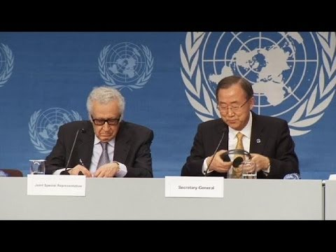 UN chief denounces atrocities as Syrian peace talks begin