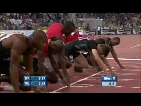 Rome Diamond League 2012 – Usain Bolt 9.76 WIND -0.1