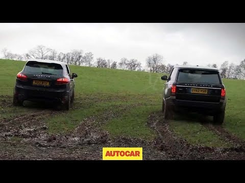 Range Rover v Porsche Cayenne drag racing off road - autocar.co.uk