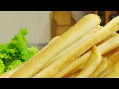 Хрустящие хлебные палочки видео рецепт