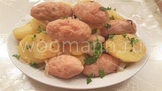 Котлеты с картошкой запеченные в духовке