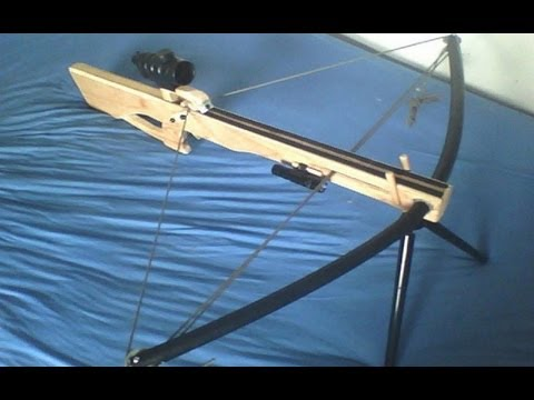 Homemade compound PVC crossbow