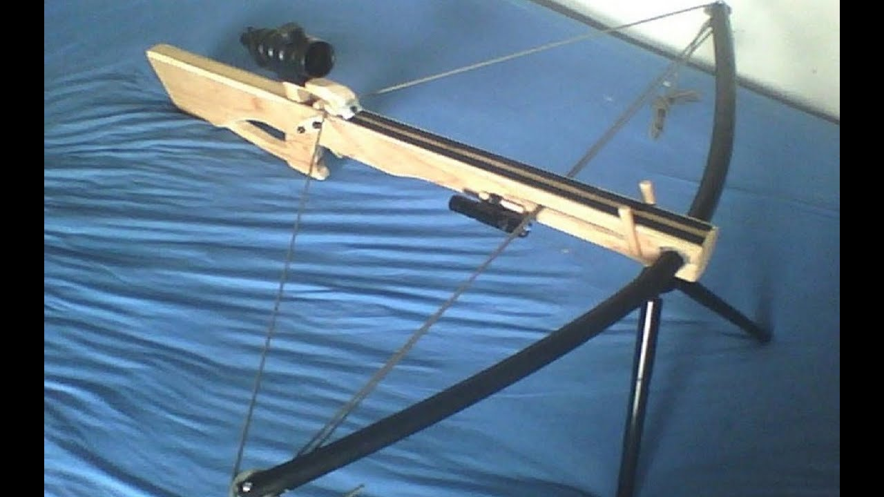 Homemade compound pvc crossbow youtube - How to make a homemade bow and arrow out of wood ...