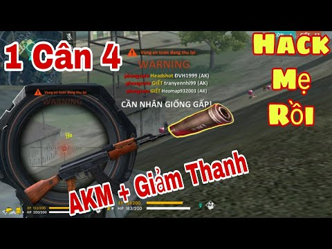 [Chém Gió Free Fire - Battle Ground] Top 1 Solo Vs Squad 12 Kills - AKM Giảm Thanh | Phong Zhou