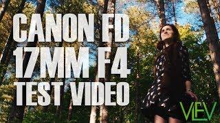 Canon FD 17mm F4 TEST VIDEO | VintageLensesForVideo