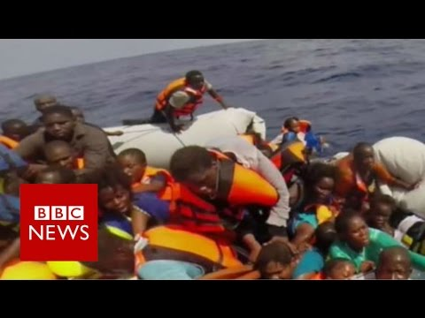 What a migrant's distress call in the Mediterranean sounds like - BBC News