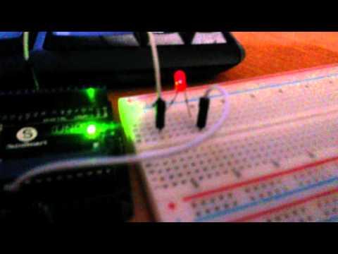 Мерцание светодиода с частотой