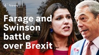 Farage and Swinson try to seize electoral initiative amid battle for Brexit