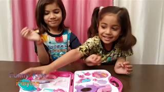 New Funny Videos with Toys and Makeup kit from Katy for funny kids : Ruhi & Pihu