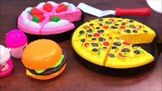Đồ chơi trẻ em CẮT BÁNH PIZZA, CẮT BÁNH SINH  NHẬT, Kitchen Set Hello Kitty (Chim Xinh)