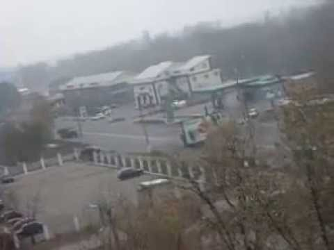 Ukraine. Column of Russian military vehicles in Makeevka