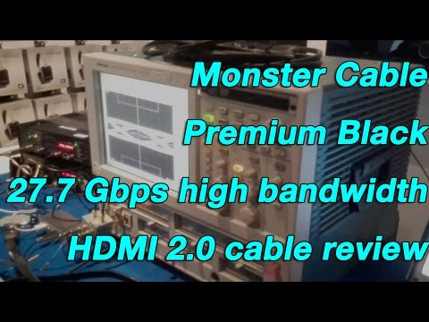 Monster Cable Premium Black 27.7 Gbps high bandwidth HDMI 2.0 cable review