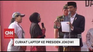Demi Anak Ibu Negosiasi Laptop Daripada Sepeda Dari Presiden Jokowi