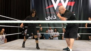 Dinesh Kumar performs 40 consecutive rolls at WWE tryout in Dubai