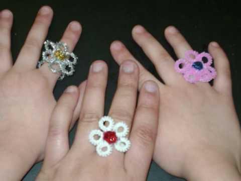 Anillos en forma de flor