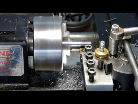 Powering Sherline Lathe With NEMA 34 - Threading Example