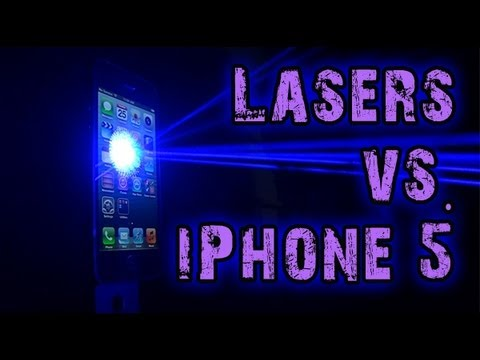 Lasers vs. iPhone 5!