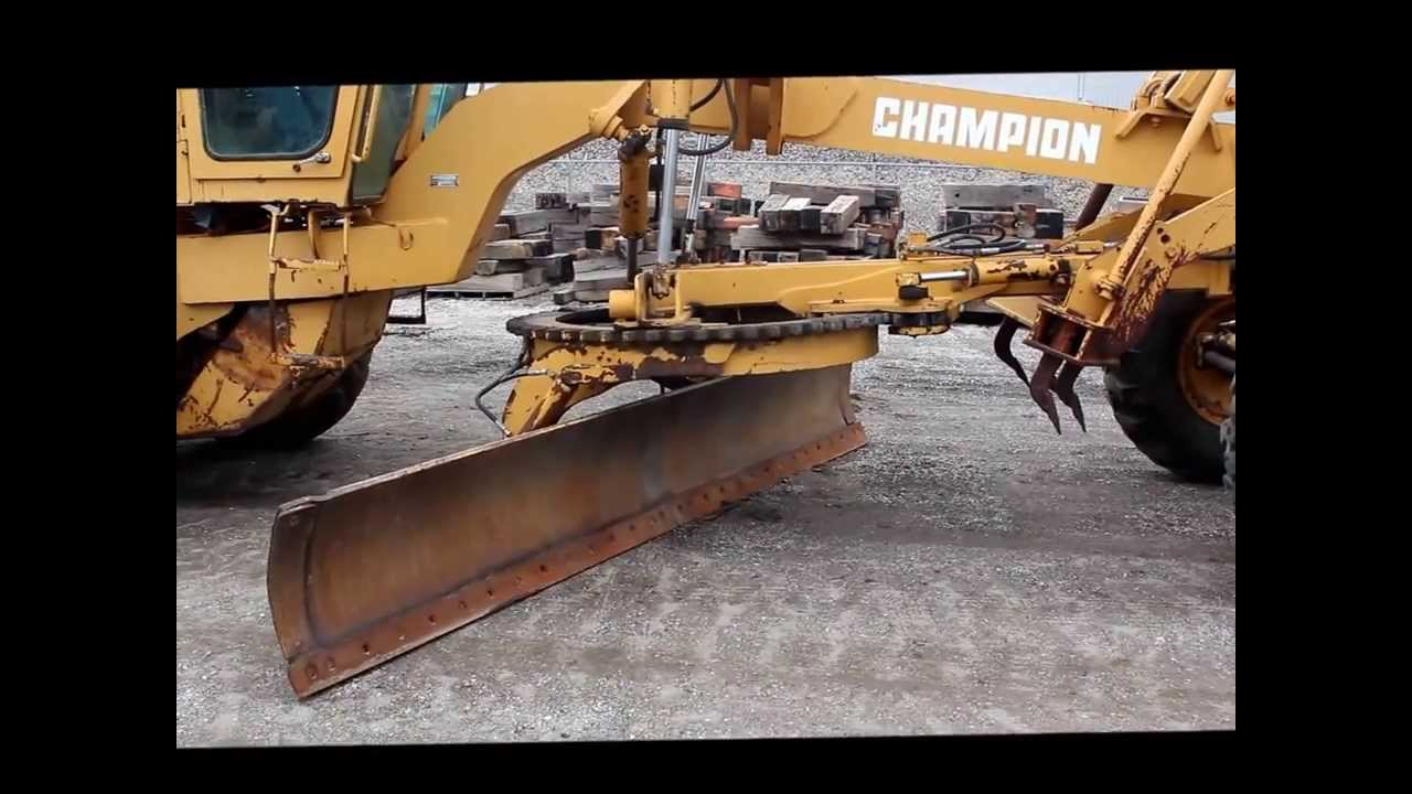 1989 Champion 720a Articulated Motor Grader For Sale