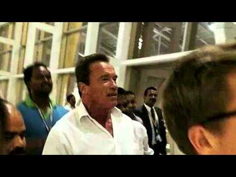 I Move Audio Launch - Arnold Schwarzenegger in Landed In chennai