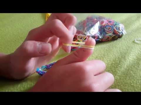 Как сделать браслет из резинок видео урок 1 - Свое счастье