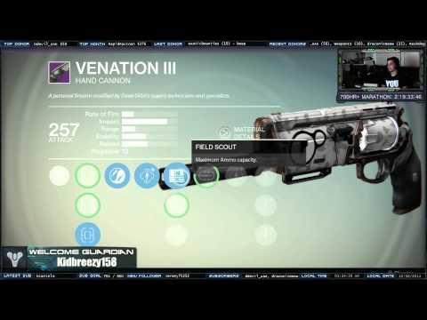 Destiny legendary hand cannon fate bringer raid gear reward save