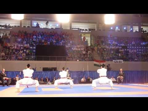 FYROM Kata Team Female Bronze match. 48th European Karate Championships