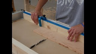 How to Make a Cross Cut Sled with Rockler T-Track // Woodworking
