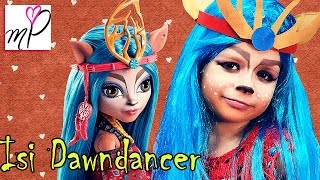 Макияж Монстр Хай куклы Изи Monster High Isi Dawndancer Makeup tutorial My Polly