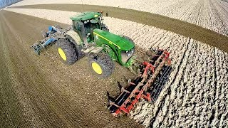 John Deere 8230 using iTEC Pro Automatic Turning - Wilhelmina Polder