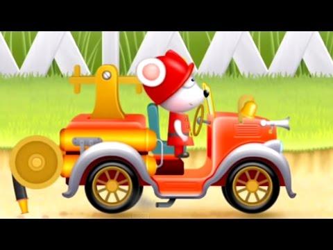 Çizgi Film – İtfaiye araçları – Nostaljik itfaiye arabası