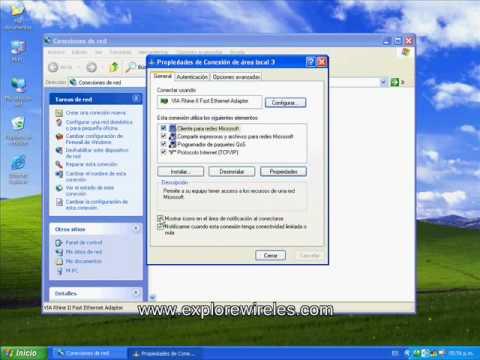 Configuracion de acceso a internet