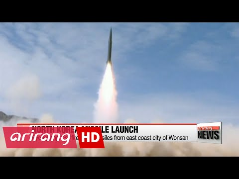 NEWSLINE AT NOON 12:00 N. Korea test-fires two missiles from east coast city of Wonsan