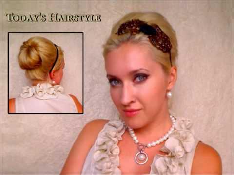 60s Elegant hairstyles for long hair Retro vintage bridesmaid wedding updo