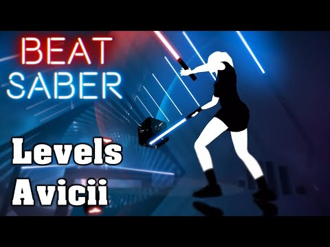 Levels - Avicii EXPERT King Kovic spielt Beat Saber First Attempt custom Song Oculus Rift VR Brille