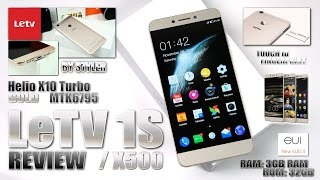 LeTV 1S/X500 Gold (In-Depth Review) Fingerprint ID, Helio X10 MTK6795T 2.2GHz - Video by s7yler
