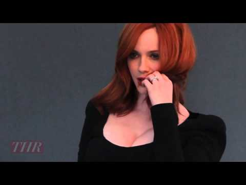 Behind the Scenes of THRs Christina Hendricks Cover Shoot
