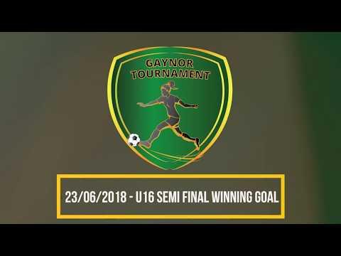 Gaynor Cup: U16 Cup Semi Final winning goal!