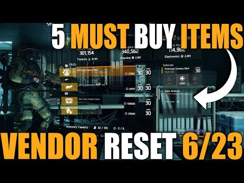 5 MUST BUY ITEMS FROM THE DIVISION WEEKLY VENDOR RESET 6/23/2018