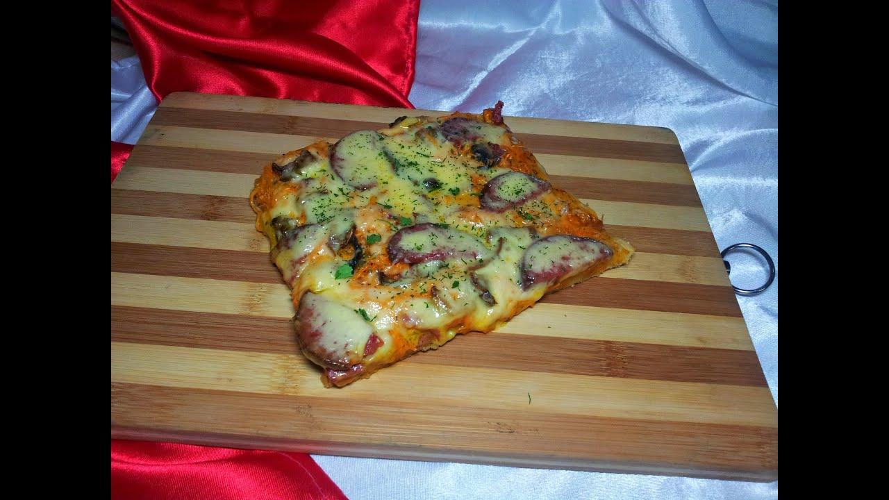 Пицца из теста в духовке в домашних условиях 454