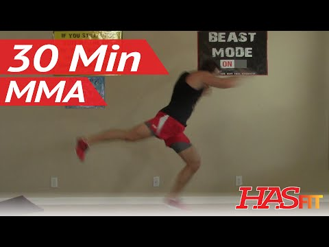 30 Min Knockout MMA Workout - HASfit MMA Conditioning - Home MMA Workouts Exercises UFC Training Image 1